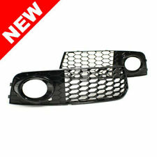 09-12 AUDI A4 B8 RS STYLE FRONT BUMPER FOG LIGHT GRILLES - GLOSS BLACK