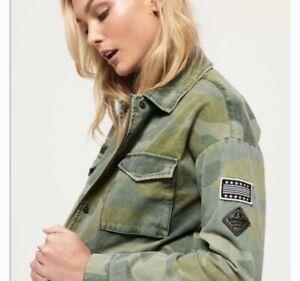 SUPERDRY Women's Crop Utility Jacket Size 12