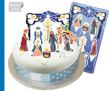 Navidad Natividad Escena Cake Topper Kit 10 Piezas!