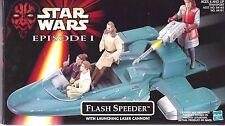 1998 STAR WARS FLASH SPEEDER w/Launching Laser Cannon NIB - New & Sealed