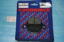 2 plaquettes de frein Arrière Goodridge Suzuki GN 125 GS 125 Peugeot XPS 50
