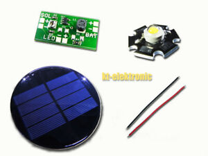 Solar Tuning Bausatz für 1,2V Akku Solarleuchten LED WARMWEISS 300mA Solarzelle