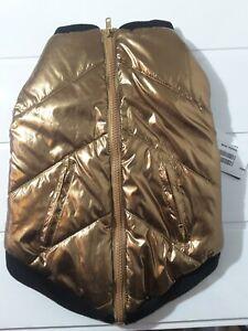 FabDog - Dogs Puffa Bomber Jacket Bronze - Large