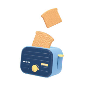 Kids Pretend Play Kitchen Electric Toaster Bread Maker Children Roleplay Toy