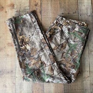 Columbia PHG Omni Heat Realtree Camo Pants XXL 44x34 Stretch Waist Zip Leg