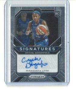 2021 WNBA PANINI PRIZM * CRYSTAL DANGERFIELD * SIGNATURES AUTO CARD LYNX UCONN
