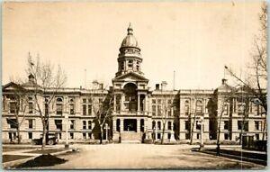 Cheyenne, Wyoming RPPC Real Photo Postcard State Capitol Building c1910s Unused