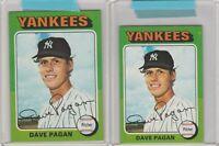 1975 Topps Dave Pagan Yankees #648 Mini and Regular