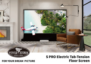 "Optoma CinemaX P2 + Vividstorm ALR S Pro 120"" Floor Tensioned Screen"