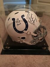 PEYTON MANNING SIGNED COLTS AUTHENTIC FULL SIZE HELMET SB XLI MVP WITH CASE
