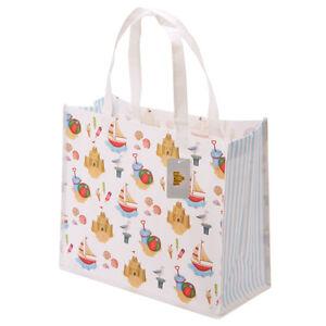 Kunststofftasche Plastiktasche Einkaufstasche Bag Tasche Strand Möwe Boote