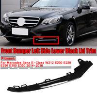 Black Front Bumper Left Trim Molding Lip For Mercedes W212 E-Class Sport