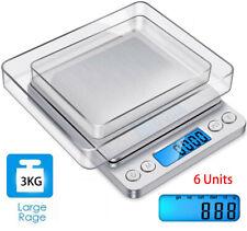 3kg/0,1g Digital LCD Küchenwaage Feinwage Präzision Briefwaage Gold Münzwaage