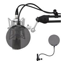 Desktop Recording Studio Microphone Mic Windscreen Pop Filter Mask Shield Metal