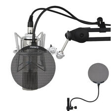 Desktop Recording Studio Microphone Mic Windscreen Pop Filter Mask Shield Metal