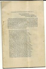 1864 Civil War Document, War Dept Washington, Transfers to the VRC Booklet