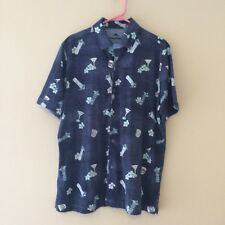 Tommy Bahama NEW Blue Mens Size L  Button Down  $148.00