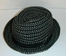Carlos Santana polyester Hat NEW black mix color MEDIUM fedora !
