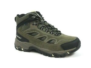 Hi-Tec Men's Ramsey Waterproof Smokey Brown Olive Hiking Boots