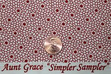 """AUNT GRACE """"SIMPLER SAMPLER"""" QUILT FABRIC CIRCA 1930's BTY FOR MARCUS 5871-0311"""