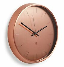 Umbra META WALL CLOCK - COPPER 32cm in diam SILENT Modern