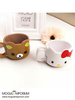 NEW UK Hello Kitty Tooth Brush Cup Mug Toothbrush Handle Holder Red For Kids