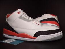 2007 Nike Air Jordan III 3 Retro WHITE FIRE RED CEMENT GREY BLACK 136064-161 11