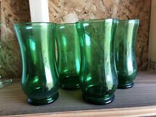 Vintage Green Glassware Set Of 4