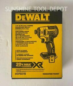 "DeWalt DCF887B 20V MAX XR® 1/4"" 3-Speed Impact Driver (TOOL ONLY) (In Box)"