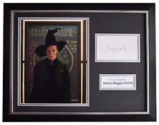 Maggie Smith Signed FRAMED Photo Autograph 16x12 display Harry Potter Film COA