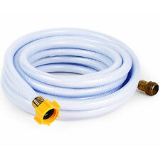 White Drinking Water Hose PVC 5/8in 25ft Lead Free Camper RV Trailer Accessory