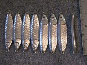 8 fishing bulk wobble fish jigs lures 2oz herring jigging spoons no hooks