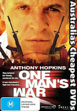 One Man's War DVD NEW, FREE POSTAGE WITHIN AUSTRALIA REGION 4