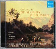C.P.E BACH Die Israeliten in der Wüste Israelites in Desert Christoph SPERING CD