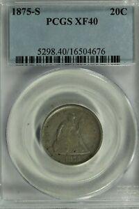 1875-S Twenty Cent Piece : PCGS XF40