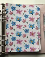 Filofax A5 Organiser Planner - Gorgeous Pink & Blue Flower Dividers - Laminated