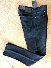 Polo Ralph Lauren Mens Jeans 36 30 Eldridge Skinny Stretch Black Denim NWT $145