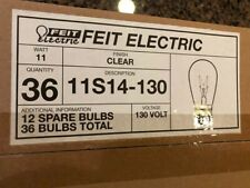 Lot of 141 Feit Electric Light Bulb 11S14-130 Case Of 36 11W 130V Lamp/Standard