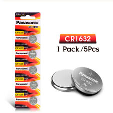 5 x Panasonic CR1632 batteries Lithium Power 3V Coin Cell BR1632 DL1632 Pack 1