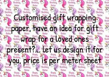 Customized gift wrapping sheet 1 meter your design present wrap roll