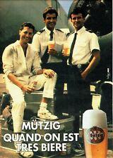 Publicité Advertising 079  1985  bière Mutzig   pilotes