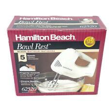 New Hamilton Beach White Bowl Rest Mixer 5 Speed 62520 Kitchen Appliance Blender