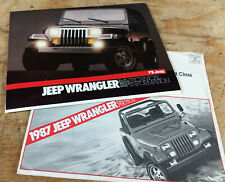 1987 Jeep YJ Wrangler NOS brochure press release news and photos
