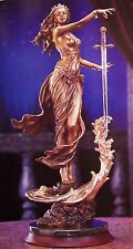 NIB FRANKLIN MINT BRONZE LADY OF THE LAKE  KING ARTHUR EXCALIBUR SWORD +COA