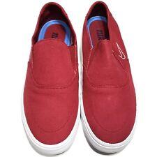 big sale d9430 7d3cb Nike SB Portmore II Red White Slip-On Canvas Skateboarding Shoes Men s Size  9