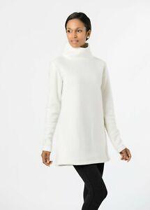 Dudley Stephens Tuckernuck Cobble Hill Vello Fleece Turtleneck Off White Size XL