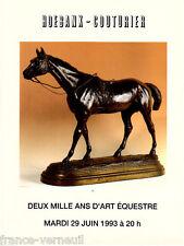 Catalogue de vente 2000 ans d'Art Equestre Cheval Tableau Sculpture...