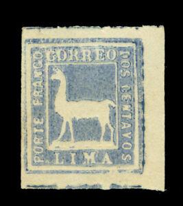 PERU 1873  Llama  2c dark blue  Scott # 20  mint MNG VF