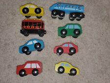 Lot of 8 Melissa & Doug Wooden Train Passenger Car Toys etc
