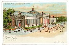 Paris France-Grand Palais-Exposition Universelle 1900-Hold to Light Htl Postcard